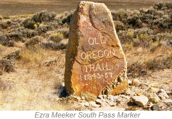 Ezra Meeker South Pass Marker, South Pass National Historic Landmark
