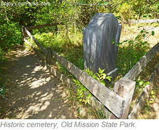 Historic cemetery, Old Mission State Park, Idaho