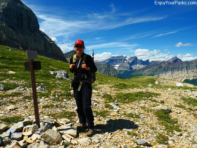 Gable Pass Trail Junction, Lee Ridge, Glacier National Park