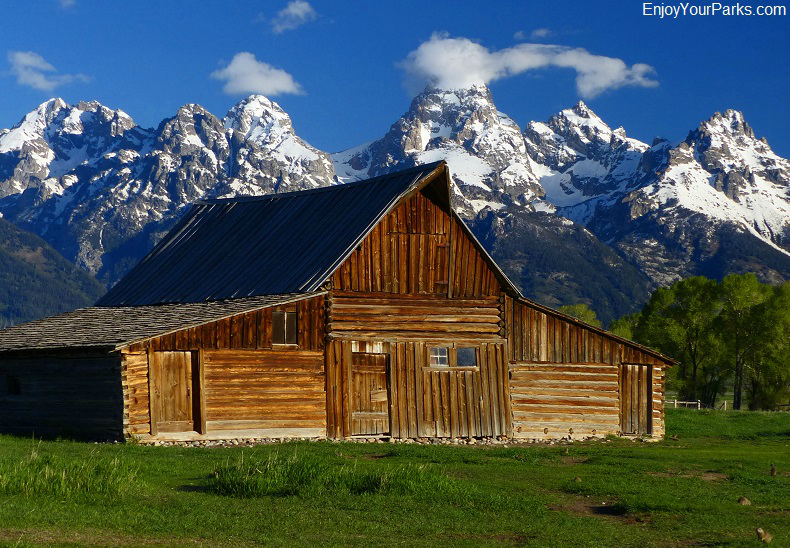 Historic T.A. Moulton Barn on Mormon Row, Grand Teton National Park