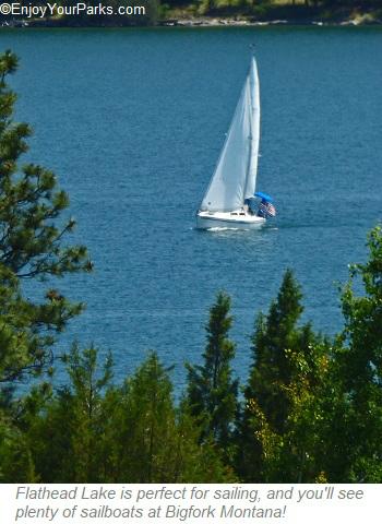 Sailboat on Flathead Lake