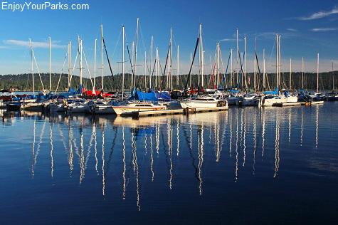 Boat dock at McCall, Idaho on Payette Lake.