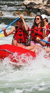 White water rafters, Idaho