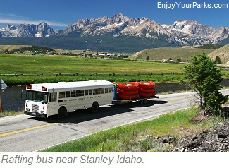 Rafting bus, Sawtooth Scenic Byway, Idaho