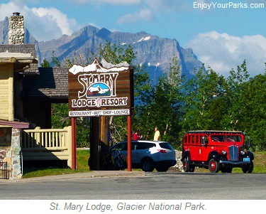St. Mary Lodge, Glacier Park Lodging, Glacier National Park