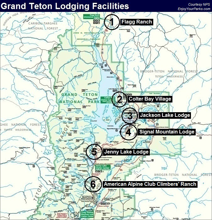 Grand Teton Lodging Facilities, Grand Teton National Park