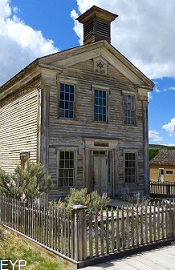 Historic building at Bannack State Park Montana