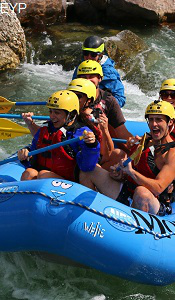 Whitewater rafting on the Gallatin River Montana
