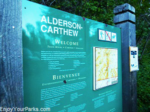 Carthew-Alderson Trail sign, Waterton Lakes National Park