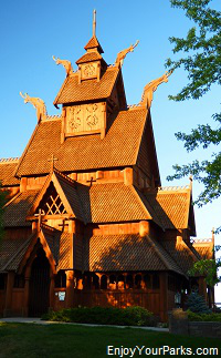 Stave Church, Scandinavian Heritage Park, Minot North Dakota
