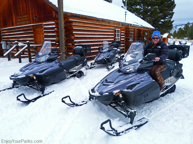 Snowmobiles, Winter in Yellowstone Park