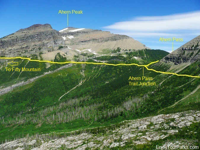 Ahern Pass Area, Northern Highline Trail, Glacier Park