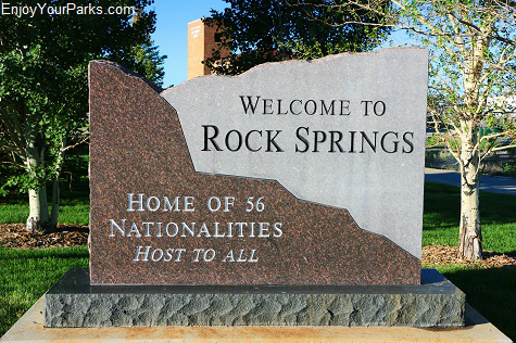 Rock Springs Welcome Marker
