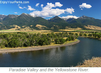 Paradise Valley and Yellowstone River, Montana