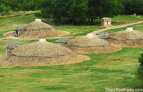Mandan Indian Dwellings, Fort Abraham Lincoln, North Dakota
