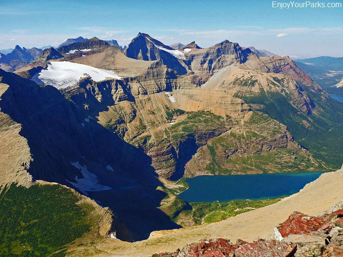 Iceberg Peak summit view, Glacier National Park