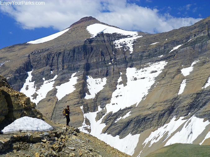 Siyeh Pass Trail with Mount Siyeh, Glacier National Park