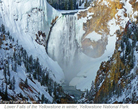 Lower Falls of the Yellowstone River, Yellowstone in Winter, Yellowstone National Park