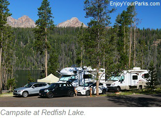 Redfish Lake Campsite, Sawtooth National Recreation Area, Idaho