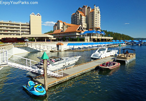The resort town of Coeur d'Alene Idaho.