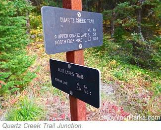 Quartz Creek Junction, Quartz Lake Loop Trail, Glacier National Park
