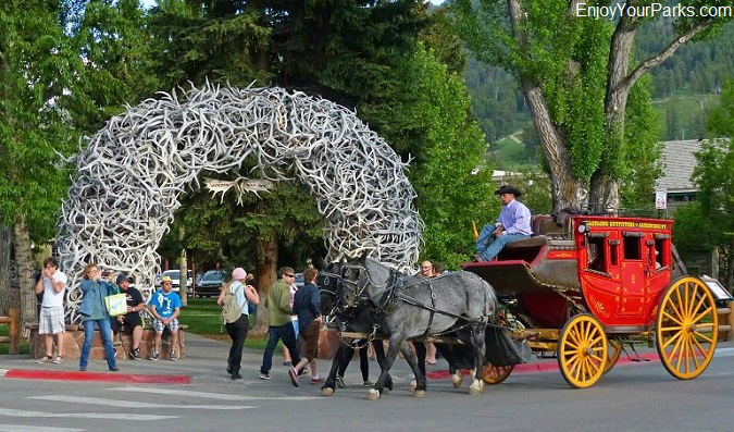 Elk Antler Arch, Jackson Wyoming, Wyoming Centennial Scenic Byway