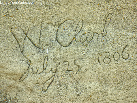Clark Signature at Pompey's Pillar Montana.