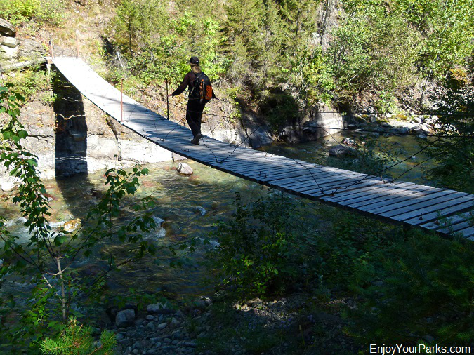 Ole Creek Suspension Bridge, Scalplock Lookout Trail, Glacier National Park