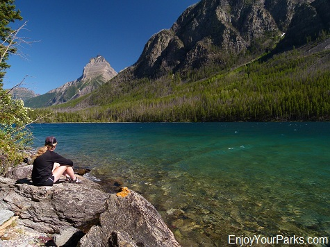 Bowman Lake (Head), Glacier National Park