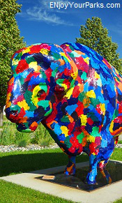 Colorful buffalo, Fargo-Moorhead Visitors Center