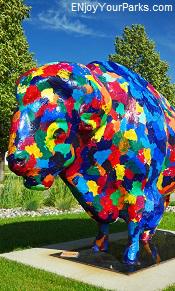 Colorful buffalo, Fargo-Moorhead Visitors Center
