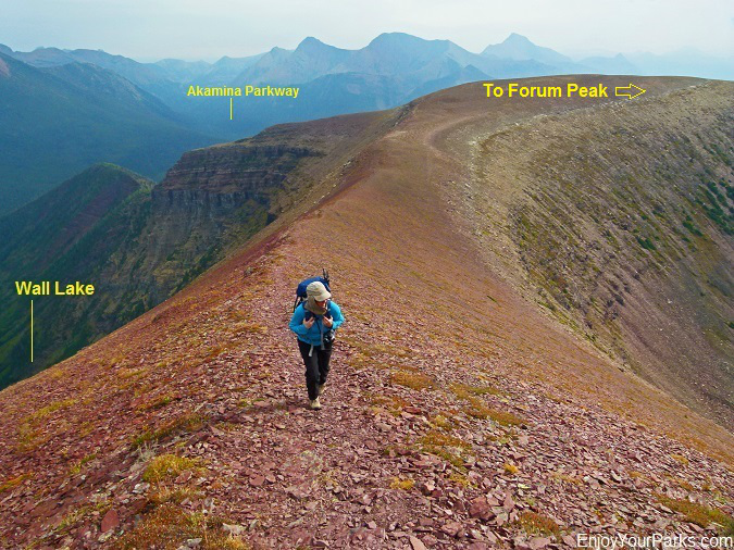 Akamina Ridge Trail, Akamina-Kishinena Provincial Park, British Columbia, near Waterton Lakes National Park