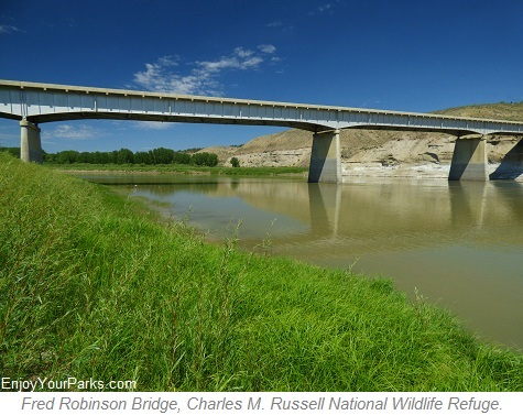 Fred Robinson Bridge, Charles M. Russell National Wildlife Refuge, Montana