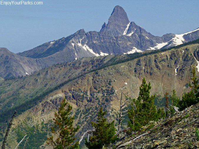 View of Mount Saint Nicholas from Elk Mountain, Glacier National Park