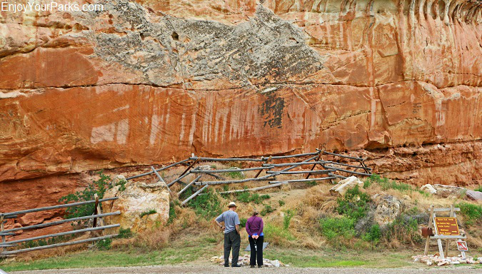 Medicine Lodge State Archaeological Site of Wyoming.