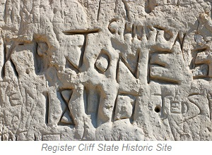 Register Cliff State Historic Site, Wyoming