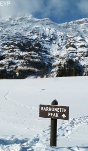 Winter in Yellowstone Park, Barronette Peak, Yellowstone National Park