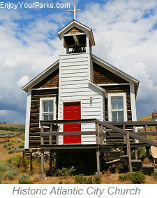 Historic Atlantic City Church, Wyoming