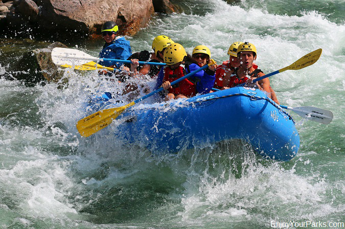 White water rafting in the Gallatin River Canyon Montana