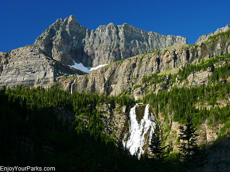 Mount Kipp, Raven Quiver Falls, Paiota Falls, Stoney Indian Pass Trail, Glacier National Park