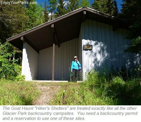 Goat Haunt Hiker's Shelters, Glacier Park
