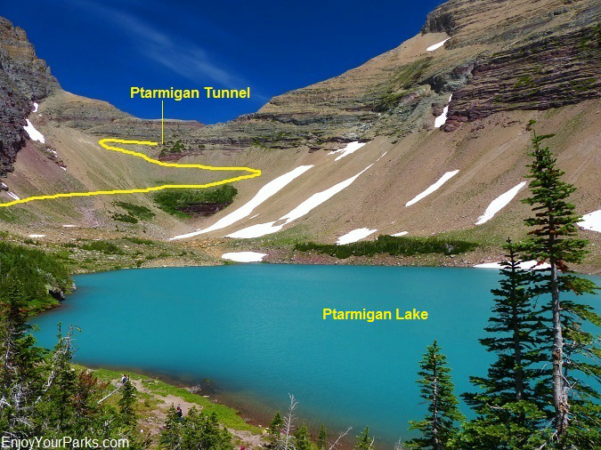 Ptarmigan Lake, Ptarmigan Tunnel Trail, Glacier National Park