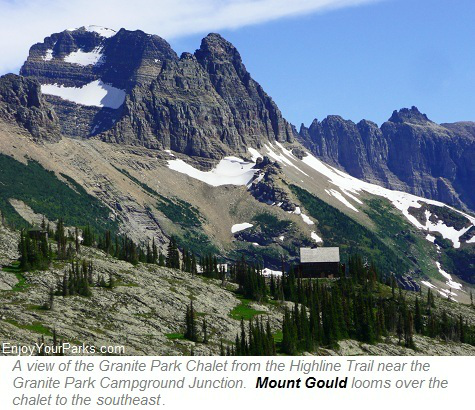 Granite Park Chalet with Mount Gould, Glacier Park