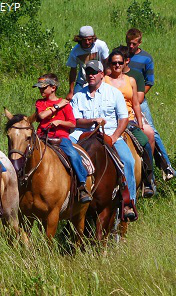 Horseback riders, Waterton Lakes National Park