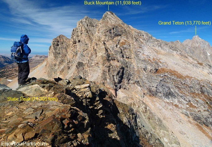 Static Peak summit view, Grand Teton National Park