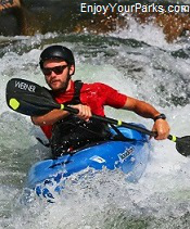White water kayaker, Idaho