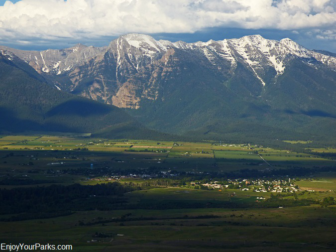 Mission Valley and Mission Mountain Range, Montana