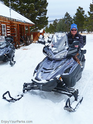 Snowmobiling in West Yellowstone Montana, Yellowstone National Park
