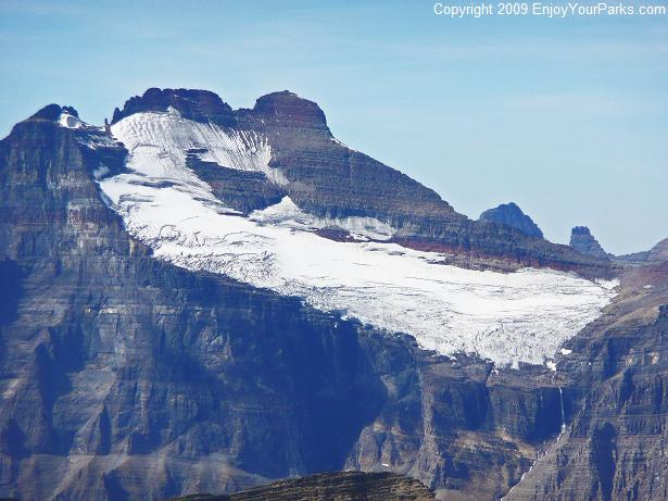View of Mount Merritt from Apikuni Mountain, Glacier National Park