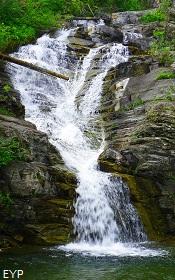 Twin Falls, Upper Two Medicine Lake Trail, Glacier National Park